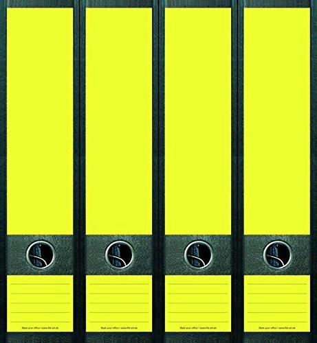 4er Set Ordnerr/ücken f/ür breite Ordner Neon Gelb Blanco Ordner Aufkleber Etiketten Deko NA001