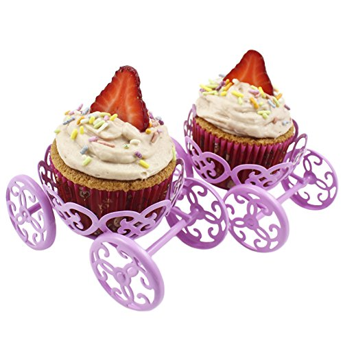 Zoie + Chloe Princess Carriage Cupcake Stand Holder Display - 2 -