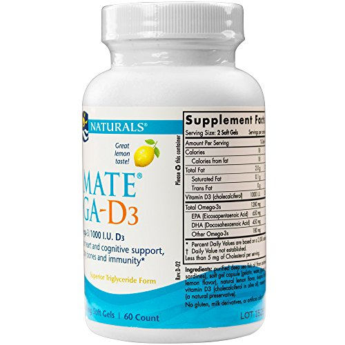 Nordic Naturals Ultimate Omega D3 Supports Cardiovascular, Brain Health, Healthy Bones and Immune System, Lemon