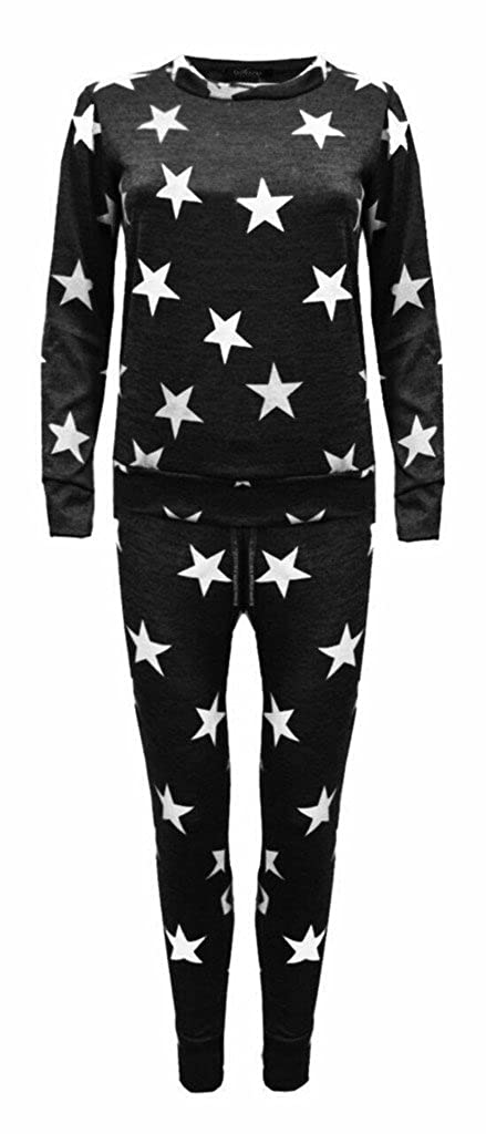 Girls Kids Co-ord Army Camo Print Loungewear Tracksuit Outfit Set Ages 2-13
