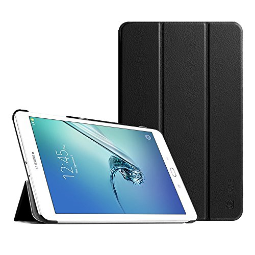 Fintie Slim Case for Samsung Galaxy Tab E 9.6 - Ultra Lightweight Protective Stand Cover for Tab E Wi-Fi / Tab E Nook / Tab E Verizon 9.6-Inch Tablet (Fit All Versions SM-T560/T561/T565/T567V), Black (Samsung Galaxy Tablet Sports Case)