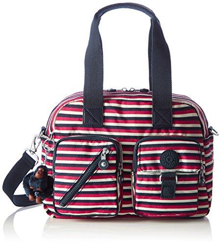 Kipling Womens Defea Top-Handle Bag Multicolour (Sugar Stripes)