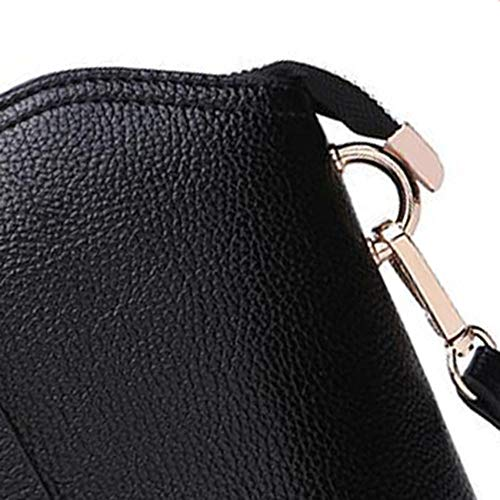 pequeño Bolso Hombro Bandolera de Cuero Bolsos 19 Black 10 Femenino Vaca Shell cm de 5 Piel 21 YT Oblicuo Y vPqC0
