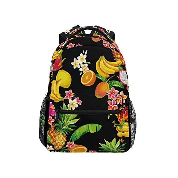 DXG1 Frutta Ananas Limone Banana Zaino Donne Uomini Ragazzo Ragazzo Scuola Borsa Bookbag Casual Daypack Forniture Spalla… 1 spesavip