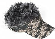 Billy Bob Flair Hair Digital Camo Visor with Grey Hair