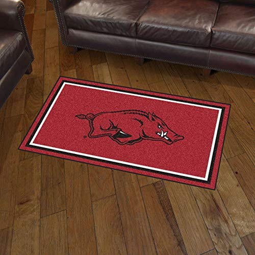 NCAA Arkansas Razorbacks 3 Ft. x 5 Ft. Area RUG3 Ft. x 5 Ft. Area Rug, Red, 3' x 5'