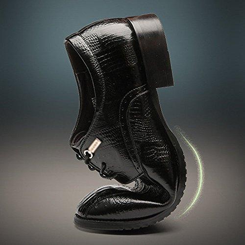 Affaires Dentelle Chaussures Mode Bullock Hommes Mariage LYZGF Occasionnels Black Britanniques en Cuir qOwUAnBOH