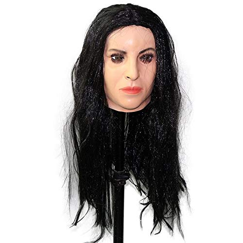 Realistic Female Latex Mask Human Overhead Mask Party Cosplay Sexy Costume Woman Face -