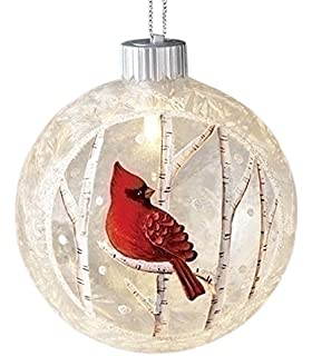 songs of the season 30169 45 led ice cardinal glass orn ornament