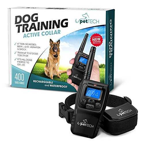 Remote-Controlled-Dog-Shock-Collar-Lifetime-Replacement-Guarantee-1200-FT-Range-4-Modes-Shock-Light-Vibration-Beep-Safe-For-All-Size-Dogs-10Lbs-100Lbs-Rechargeable-Waterproof