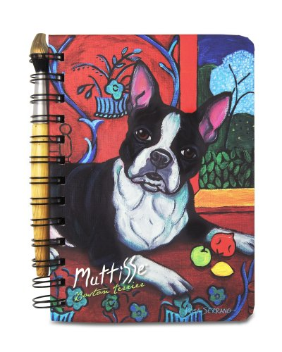 Pavilion Gift Boston Terrier Muttisse, Journal and Pen Set, 5 X 7 Inches, 12095
