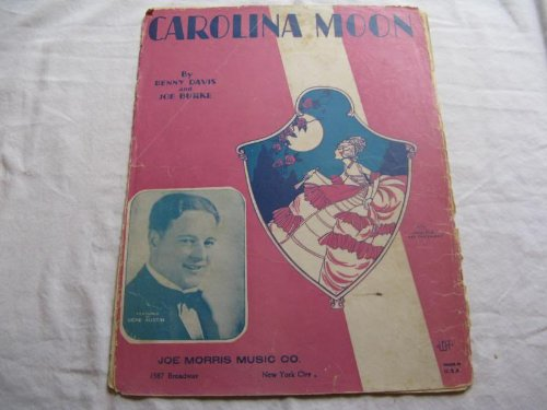 CAROLINA MOON BENNY DAVIS 1928 RIPPED SHEET MUSIC FOLDER 397 SHEET MUSIC