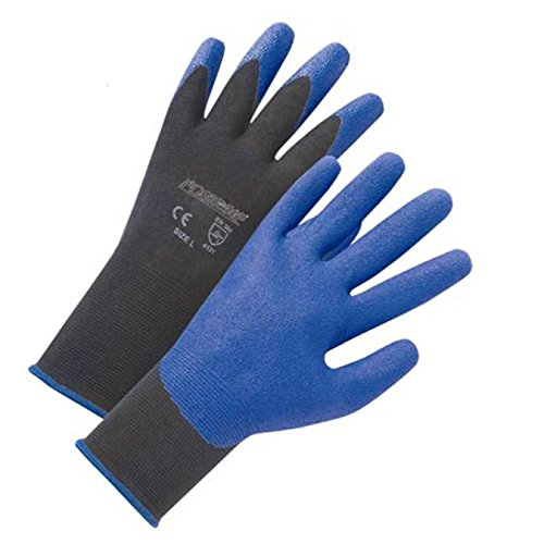 Black Pvc Coated Gloves - 8