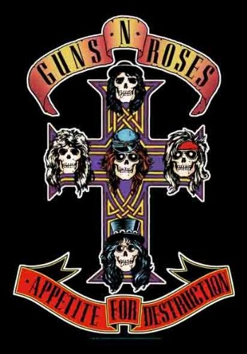 Roses Guns N Banner (Guns N Roses Appetite for Destruction 30'' x 40'' Textile/Fabric Poster Collections Fabric Poster Print, 30x40)