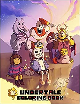 Undertale Coloring Book Great Activity Book For Kids And Any Fan Of