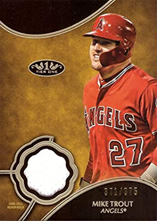 the best attitude d81a2 f55bc Amazon.com: 2019 Topps Tier One Relics #T1R-MT Mike Trout ...