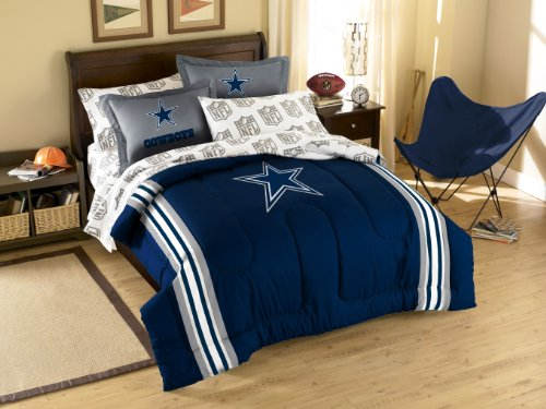 (Dallas Cowboys 7 Pc FULL Size Bed in a Bag (Comforter, 1 Flat Sheet, 1 Fitted Sheet, 2 Pillow Cases, 2 Shams) SAVE BIG ON BUNDLING!)