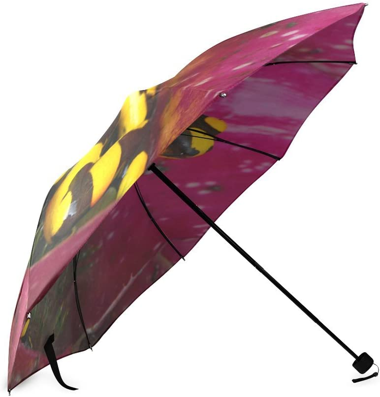 Custom Poison Frog Compact Travel Windproof Rainproof Foldable Umbrella