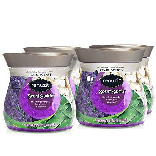Renuzit Pearl Scents Air Freshener, Serenity Lavender, Eucalyptus & Jasmin, 9 Ounces (4 Count) ()