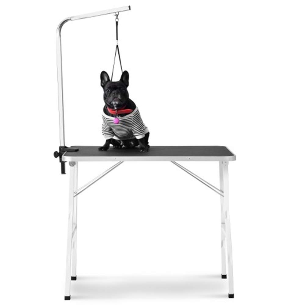 Aplos Foldable Pet Grooming Table, Portable Medium Professional Dog Table with Steel Legs& arm Rubber mat for Dog and Pets by Aplos