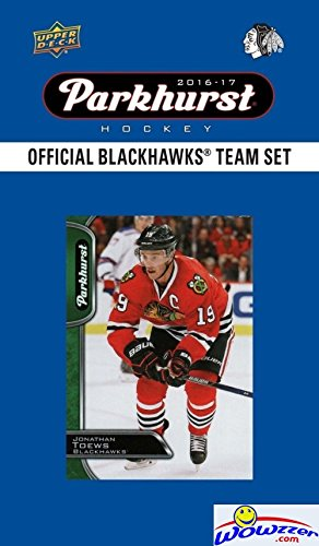 Chicago Blackhawks 2016/2017 Upper Deck Parkhurst NHL Hockey EXCLUSIVE Limited Edition Factory Sealed 10 Card Team Set including Jonathan Toews,Patrick Kane,Corey Crawford & all the Top Stars! Wowzzer
