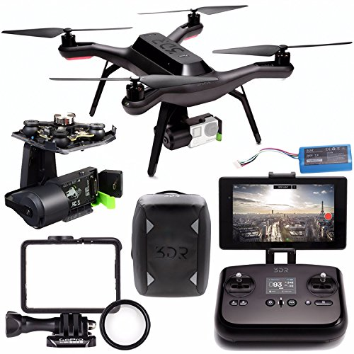 3DR Solo Quadcopter + 3DR Solo Gimbal for GoPro HERO3+ and HERO4 + 3DR Backpack for 3DR Solo Quadcopter Bundle