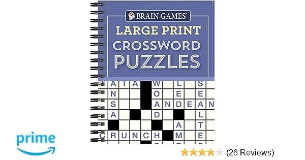 Amazon com: Brain Games - Large Print Crossword Puzzles (Purple