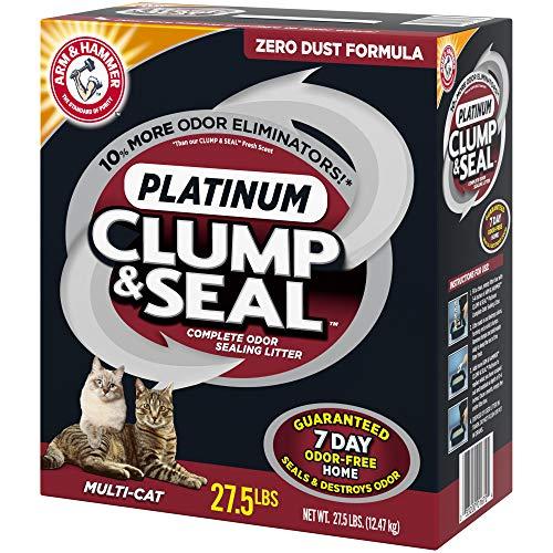 ARM & HAMMER Clump & Seal Platinum Clumping Cat Litter, 27.5lb