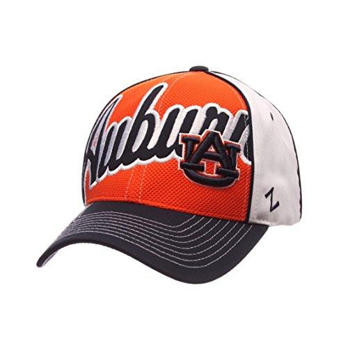 NCAA Auburn Tigers Mens Uprising Hat, White/Navy, Adjustable