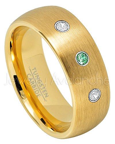 Tsavorite Yellow Ring - 7