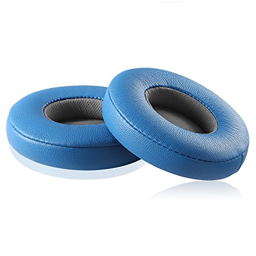 Solo 2.0/3.0 Replacement Earpads, JARMOR Memory Foam Ear Cushion Cover for Beats Solo 2.0/3.0 Wireless On Ear Headphones ONLY (Blue & Grey)