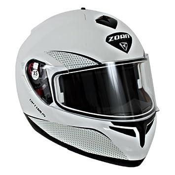 Zoan Optimus nieve sólido brillante Color blanco eléctrico lente Modular casco completo de nieve grande