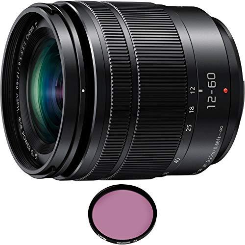 Panasonic Lumix G Vario 12-60mm f/3.5-5.6 ASPH. Power O.I.S. Lens with Pro Filter (Renewed)