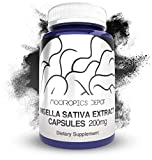 Nigella Sativa Extract Capsules   200mg   120 Count   Minimum 5% Thymoquinone Content   Black Seed Oil Extract   Supports Brain Health, Memory, Liver Health, and Immune Function   Nootropics Depot