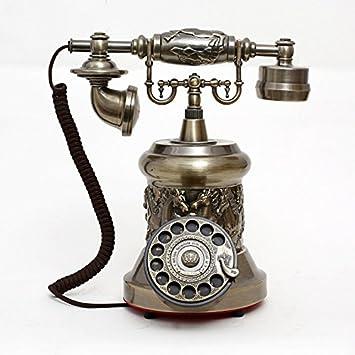 European antique vintage telephone rotary dial phone/metal