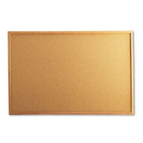 UNV43603 - Cork Board with Oak Style Frame