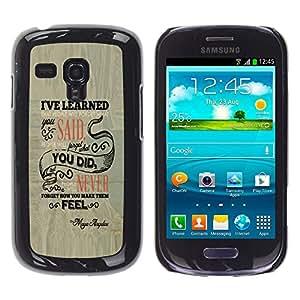 EJOY---Cubierta de la caja de protección la piel dura para el / Samsung Galaxy S3 MINI 8190 / --La gente se olvidará