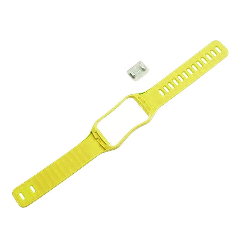 リストバンド – SODIAL ( R )交換用時計手首ストラップリストバンドfor Samsung Galaxy Gear S r750カラー:イエロー  B01LWU6UBB