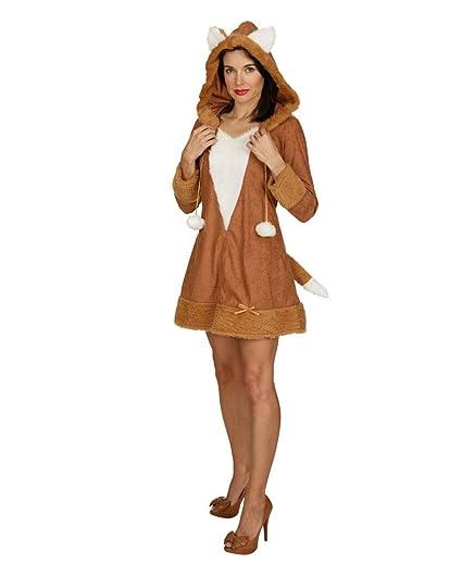 traje atractivo del zorro con capucha S/M (36/38): Amazon.es ...