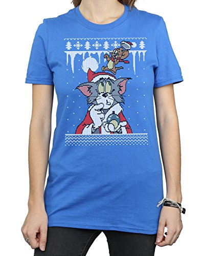 Azul Isle Del And Tom Camiseta Real Jerry Novio Lorenay Fair Mujer Christmas Fit P6gqRYK