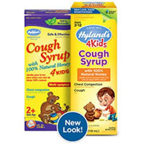 Hyland's Cough Syrup with 100% Natural Honey 4 Kids 4 oz (Pack of 2)