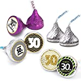 Happy 30th Birthday Stickers For 30 Years Old Party Decoration - Birthday Favor Labels -216 Count