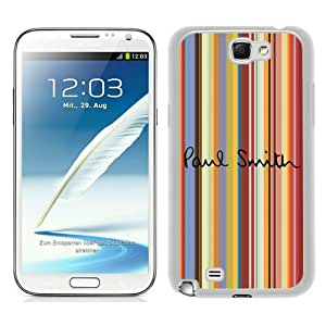 Beautiful Samsung Galaxy Note 2 N7100 Screen Cover Case ,Paul Smith 3 White Samsung Galaxy Note 2 N7100 Cover Fashionabe And Durable Designed Phone Case