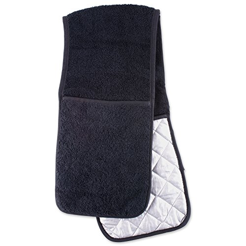 Mitts Hand Terry - DII Everyday Kitchen Basic Cotton Long Terry Double Oven Mitt, 36