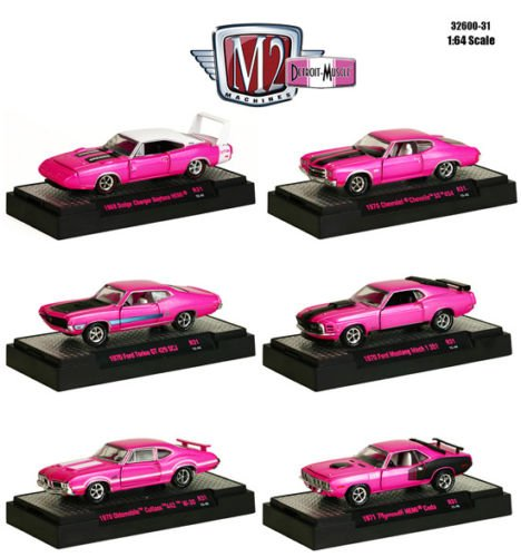 New 1:64 DETROIT MUSCLE RELEASE 31 IN ACRYLIC DISPLAY CASES Diecast Model Car By M2 Machines Set of 6 Cars (Cutlass Model Car compare prices)