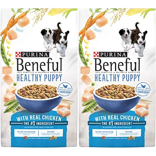 2 Bags of Purina Beneful Healthy Puppy with Real Chicken Dry Dog Food - 3.5 lb.ea by Purina