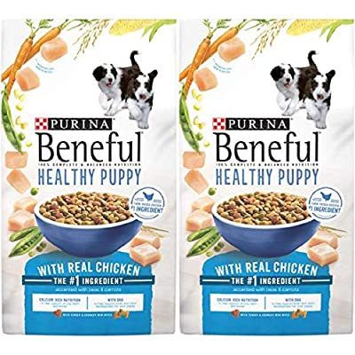 2 Bags of Purina Beneful Healthy Puppy with Real Chicken Dry Dog Food - 3.5 lb.ea