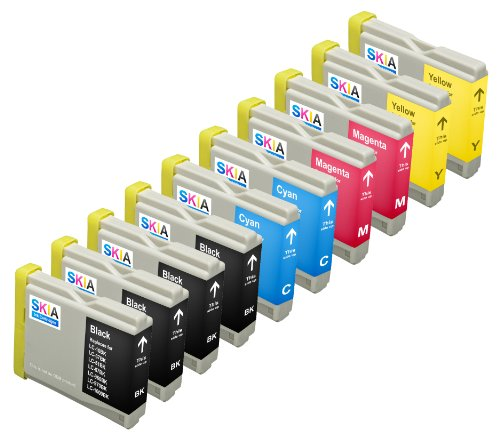 Skia 10 Pack LC51 Replacement Ink Cartridges for Brother DCP-130c DCP-330c DCP-350C Intellifax 1360 MFC-230C MFC-240C MFC-440CN MFC-465cn MFC-5460CN MFC-665CW MFC-685cw MFC-885cw LC 51