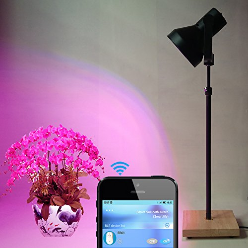 Indoor Plant LED Grow Light Stand Floor lamp with 40W Full Spectrum LED Grow Bulb and Timer Switch for Home Garden Marijuana Veg Flower by AiHihome
