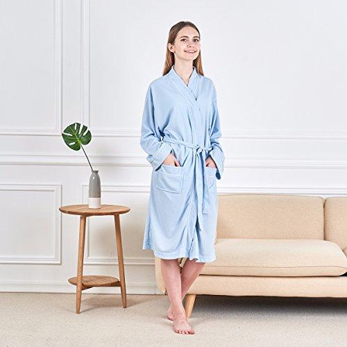0f1057c764 Junebloom Women s Kimono Robes Cotton Soft Lightweight Waffle Bathrobe  Short Sleepwear